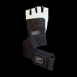 QNT-Handshuhe Leder mit Handgelenksbandage